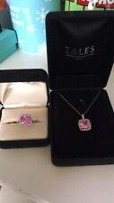 Zales 10k Pink Sapphire Set