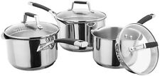 Stellar 5000 Induction 3 Piece Saucepan Set