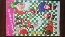"Vintage Carlton Cards ""Santa"" Christmas Sticker Pack (4 sheets)"