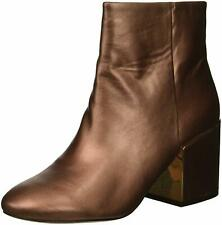 Kenneth Cole New York Women's Reeve 2 Block Heel Bootie Ankle Boot 6.5 Copper