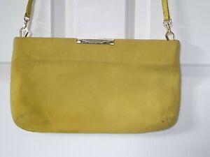 Ladies LK Bennett Lime Suede Under Arm/clutch Bag