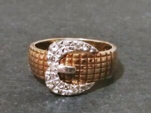 10K GOLD Belt Buckle Ring