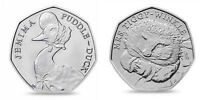 2016 50P COIN JEMIMA PUDDLE-DUCK & MRS TIGGY-WINKLE UNCIRCULATED FIFTY PENCE @