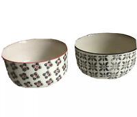 Signature Houseware Stoneware Print 7– 2 Bowls