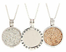 Silver Plated Round Cubic Zirconia Costume Necklaces & Pendants