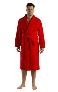 Shawl Terry Robe for Men Women Full & Knee Length embroidered Bathrobe