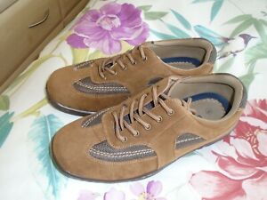 Men's Uk Size 8 COTTON TRADERS Tan lace up Trainers / Casual Shoes  NEW