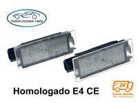 PLAFONES LED MATRICULA RENAULT CLIO MEGANE TWINGO HOMOLOGADO E4 CE LUCES LUZ