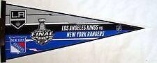 "Los Angeles Kings vs New York Rangers Stanley Cup Finals Pennant 12"" X 30"""