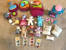 Lil Luvables Fluffy factory with 8 bears, Bed, Chair Vanity -GREAT Condition!