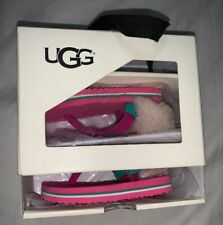 Genuine UGG Infant Baby Pink Flip Flop 0-6 Extra Small. US 0-1 EU 15-16