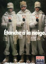 Publicité 1989  Caméra eumig NAUTICA  étanche à la neige