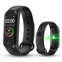 M4 Smart Wrist Bands Activity Fitness Tracker Sports Bracelet Waterproof Smart