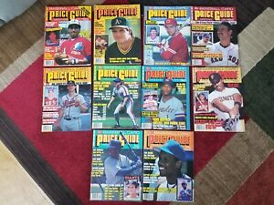 LOT OF 10 Baseball Card Price Guides from 1988 - 1989 Canseco Strawberry posters
