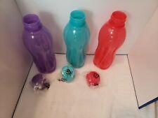 Brand New Tupperware Medium 25oz Eco Water Bottles Set of 3