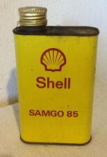 Ancien bidon huile SHELL SAMGO 85 /0.5L french antique