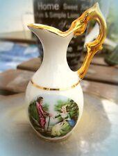 zauberhafte porzellan miniatur vase aus limoges watteaumotiv echtgold alt top