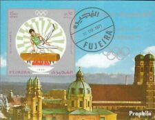 Fujeira block53b (complete issue) used 1971 vorolympische. Game