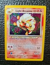 🔥 RARE Light Arcanine - 12/105 Pokemon  - Neo Destiny- HOLO 🔥