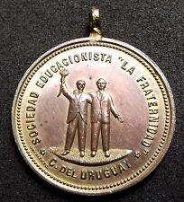 1898 ARGENTINA Concepcion del Uruguay LA FRETERNIDAD to his founders - UNC MEDAL