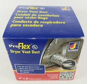 "BTD48 Dryer Vent 4"" x 8'  Aluminum Venting Pro Flex Vent Dundas Jafine"