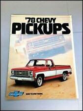 New Listing1978 Chevrolet Pickup Truck Original Car Sales Brochure Catalog - Silverado