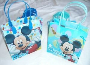 24 pieces Light Blue Mickey Mouse Goody Gift Bag Kid Birthday Party Favor Supply