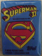 Vintage 1980 Superman 2 II Trading Cards Unopened Wax Pack
