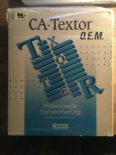 ++ NEW PC SOFTWARE ++CA-TEXTOR CA-COMPETE! CA-UP TO DATE ++ O.E.M. OVP NEW