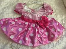 NWT Disney Store Minnie Mouse Baby Girls Dress Costume Pink 6-12 Months New