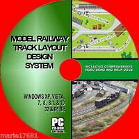 MODEL RAILWAY BEST TRACK LAYOUT DESIGN SOFTWARE MULTI GAUGE HORNBY Etc NEW PC CD