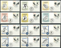GERMANY 1972 OLYMPIC GAMES MUNICH SAPPORO 12 FIRST DAY COVERS SET FDC COLLECTION