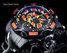 NEW 52MM Invicta Reserve KING VENOM SWISS Quartz Red & Black BRACELET Watch !