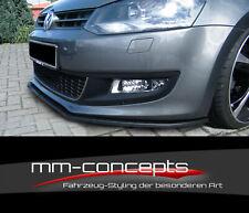 CUP Spoilerlippe für VW Polo V 5 6R GTI Frontspoiler Schwert Frontlippe ABS IN