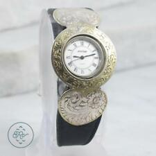Vintage Sterling Silver | MONTANA Victorian Style Etched Bezel Statement | Watch