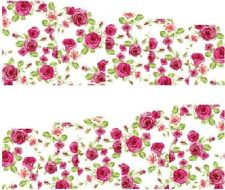 Nail Art Stickers Transfers Decals Pink Flowers (A76)
