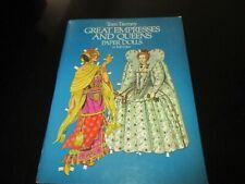 Uncut~Tom Tierney Paper Dolls~Great Empresses & Queens in Full Color