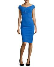 $695 LA PETITE ROBE di CHIARA BONI ROYAL BLUE STELVIA DRESS NWT SZ 46/10