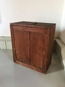 Antique Collectors Specimen Butterfly Insect Cabinet Vintage Drawers Trays