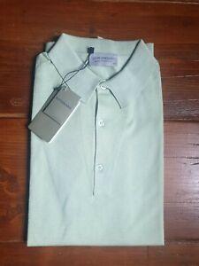 JOHN SMEDLEY Mens  ADRIAN BUD GREEN Cotton Polo Shirt Size XXL BNWT RRP £155