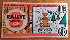 AUTOCOLLANT CONCURRENT 8e Rallye Automobile des Vallées 1972