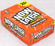 Now and Later Mandarin Orange Candy Chews Limited Edition 6-pc Bars 24 Count Box
