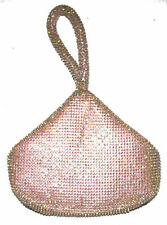 LULU TOWNSEND Rose Sparkle Iridescent Diamond handbag purse clutch NWT