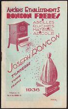 Catalogue. Maison Roncon. Abeilles, ruches, matériel apicole. 1936. Tonnerre