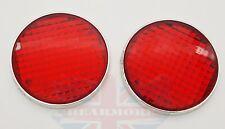11 cm Rojo Plástico Coche Furgoneta Camión Pegatinas reflectante de posición laterales de reflector de seguridad