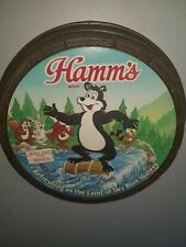 (VTG ) 1991 hamms beer bear & water motion moving 3-D barrel sign game room rare