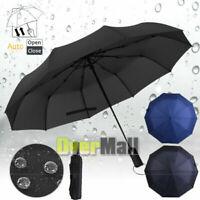 "42"" Large Umbrella Men/Women Three Folding Anti-UV Windproof Big Rain Umbrella"