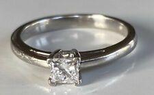 BEAUTIFUL PLATINUM GENUINE DIAMOND RING   --  NOT 18CT GOLD