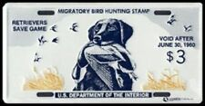 "FEDERAL DUCK STAMP LICENSE PLATE ""King Buck"" RW-26"