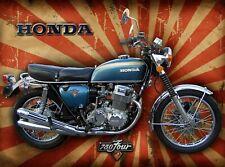 Honda 750 Four motorcycle advertising retro vintage metal sign